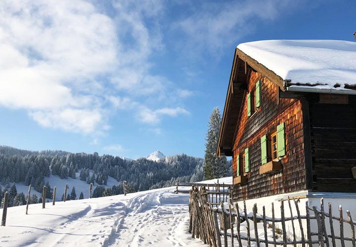 Berghütten und Alpen in Oberstaufen